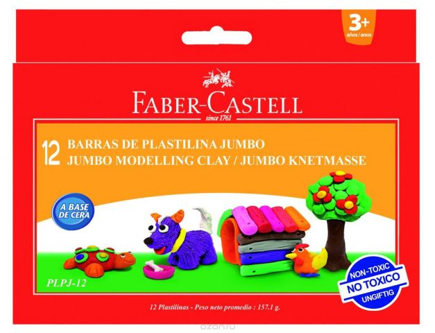 Faber-Castell Пластилин 12 шт