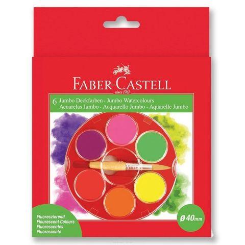 Faber-Castell Акварельные краски Jumbo неоновые 6 шт