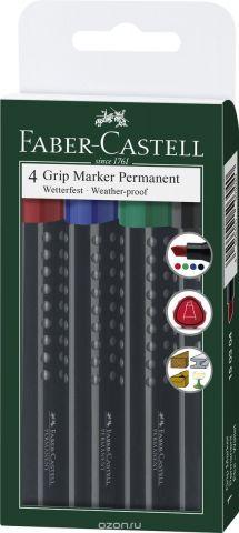 Faber-Castell Перманентный маркер Grip 4 шт