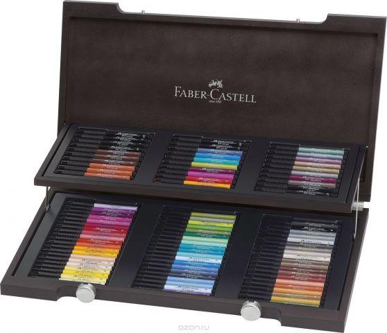 Faber-Castell Набор капиллярных ручек с кисточками Pitt Artist Pen 90 цветов