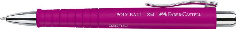 Faber-Castell Ручка шариковая Poly Ball цвет корпуса розовый