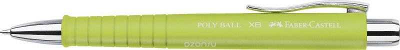 Faber-Castell Ручка шариковая Poly Ball синяя цвет корпуса лайм