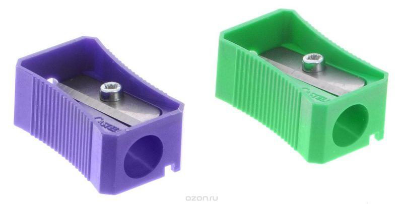 Faber-Castell Точилка цвет зеленый фиолетовый 2 шт