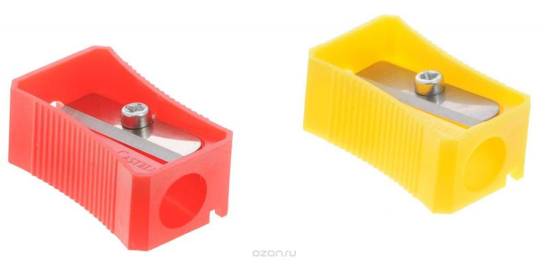 Faber-Castell Точилка цвет красный желтый 2 шт