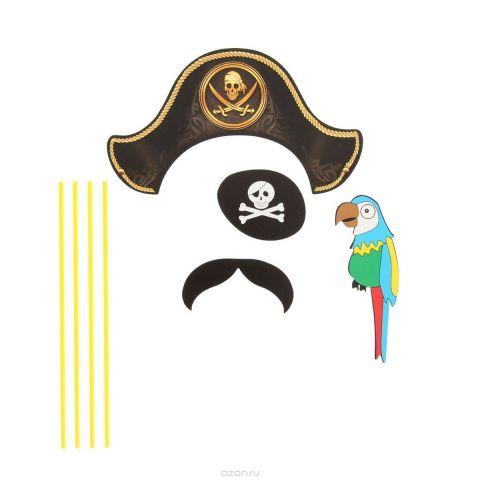 """Карнавальный набор для фотосессии Страна Карнавалия """"Пират"""", 4 предмета. 1090269"""