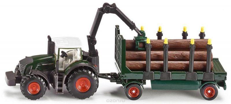Siku Трактор Fendt 939 с прицепом и бревнами