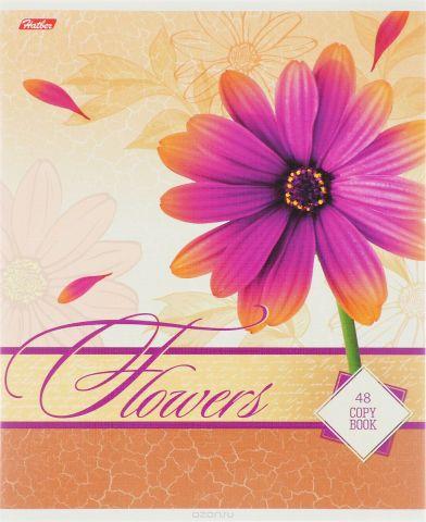 Hatber Тетрадь Дарите девушкам цветы 48 листов в клетку цвет светло-коричневый
