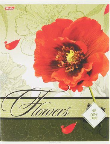 Hatber Тетрадь Дарите девушкам цветы 48 листов в клетку цвет болотный