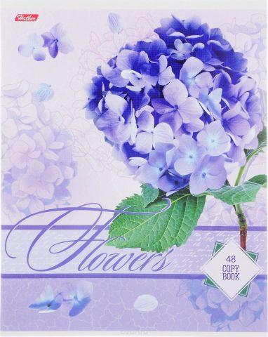 Hatber Тетрадь Дарите девушкам цветы 48 листов в клетку цвет светло-васильковый