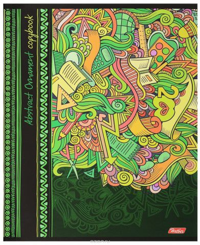 Hatber Тетрадь Орнамент 80 листов в клетку цвет зеленый