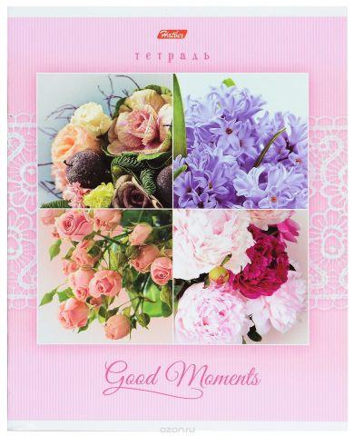 Hatber Тетрадь Good Moments 80 листов в клетку цвет розовый