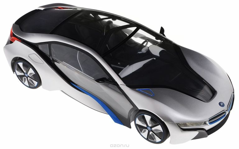 Rastar Радиоуправляемая модель BMW i8 цвет серебристый черный синий