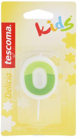 """Свеча для торта Tescoma """"Delicia Kids"""", ноль, цвет: белый, зеленый"""
