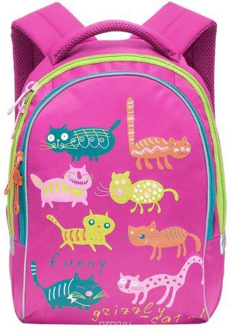 Grizzly Рюкзак детский Коты цвет фуксия