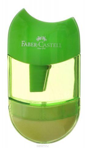 Faber-Castell Точилка-мини с контейнером и ластиком цвет салатовый