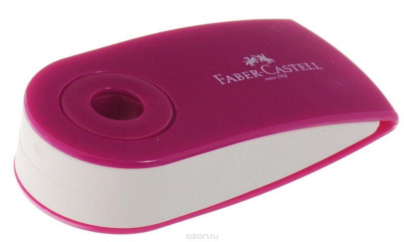 Faber-Castell Ластик-мини Sleeve цвет малиновый