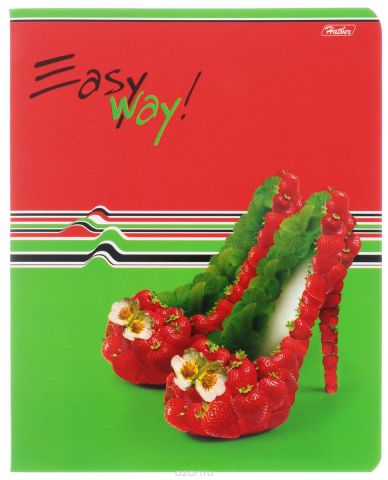 Hatber Тетрадь Фруктово-ягодный шик 48 листов в клетку цвет красный зеленый