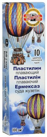 Koh-i-Noor Легкий пластилин Archimedes 10 цветов