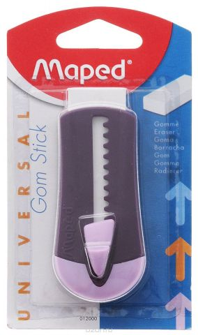 Maped Ластик технический Universal Gom Stick в футляре цвет фиолетовый сиреневый