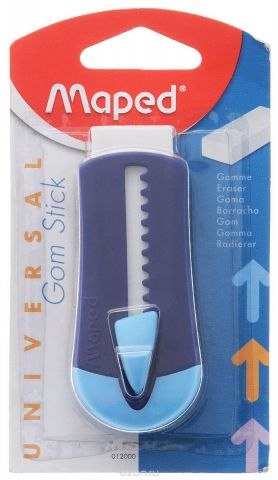 Maped Ластик технический Universal Gom Stick в футляре цвет синий голубой