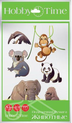Альт Набор цветной бумаги Животные 10 листов