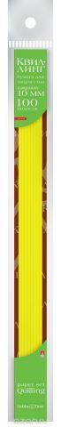 Альт Бумага для квиллинга 10 мм 100 полос цвет желтый