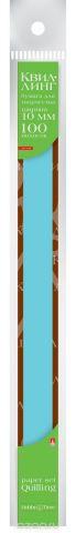 Альт Бумага для квиллинга 10 мм 100 полос цвет голубой