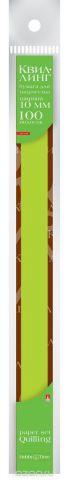 Альт Бумага для квиллинга 10 мм 100 полос цвет зеленый