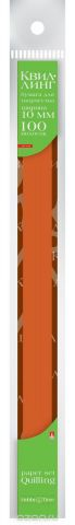 Альт Бумага для квиллинга 10 мм 100 полос цвет коричневый