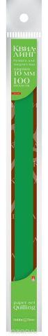 Альт Бумага для квиллинга 10 мм 100 полос цвет темно-зеленый