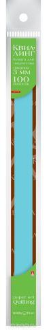 Альт Бумага для квиллинга 3 мм 100 полос цвет голубой