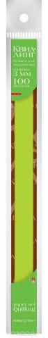 Альт Бумага для квиллинга 3 мм 100 полос цвет зеленый