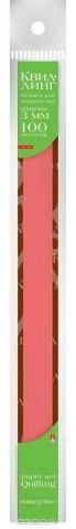Альт Бумага для квиллинга 3 мм 100 полос цвет красный