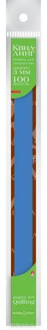 Альт Бумага для квиллинга 3 мм 100 полос цвет синий