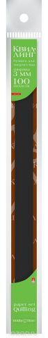 Альт Бумага для квиллинга 3 мм 100 полос цвет черный