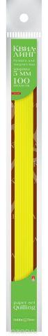 Альт Бумага для квиллинга 5 мм 100 полос цвет желтый