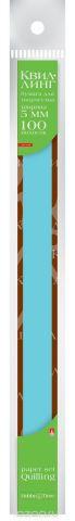 Альт Бумага для квиллинга 5 мм 100 полос цвет голубой
