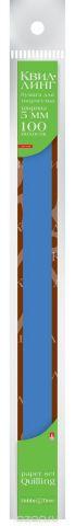Альт Бумага для квиллинга 5 мм 100 полос цвет синий