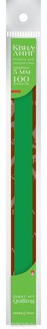 Альт Бумага для квиллинга 5 мм 100 полос цвет темно-зеленый