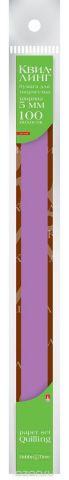 Альт Бумага для квиллинга 5 мм 100 полос цвет фуксия
