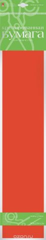 Альт Бумага креповая Флюоресцентная цвет оранжевый