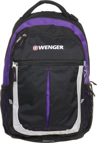 """Рюкзак городской Wenger """"Montreux"""", цвет: черный, серый, фиолетовый, 26 л"""
