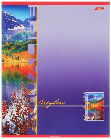 Hatber Тетрадь Аквалайф 80 листов в линейку цвет фиолетовый