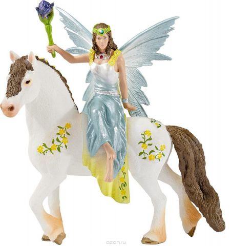Schleich Фигурка Эльфийка Эяла на лошади