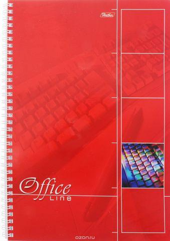 Hatber Тетрадь Office Line 80 листов в клетку цвет красный