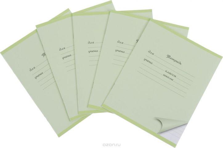 Action! Набор тетрадей 12 листов в линейку цвет светло-зеленый 5 шт