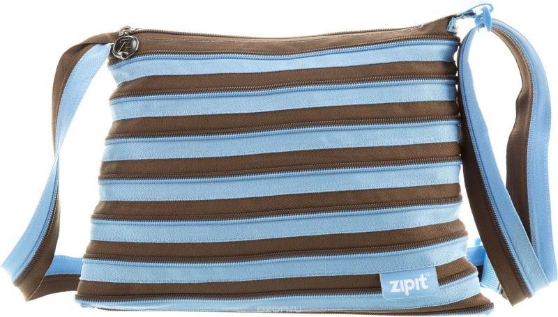Zipit Сумка Medium Shoulder Bag цвет голубой коричневый