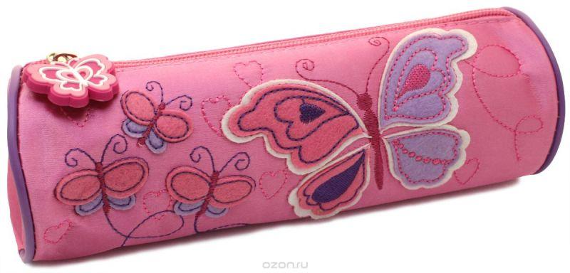 Феникс+ Пенал Бабочки цвет розовый