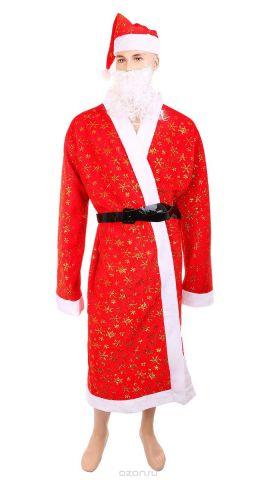 "Новогодний костюм Sima-land ""Дед Мороз"", цвет: красный. 318357"