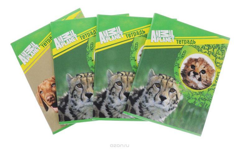 Action! Набор тетрадей Animal Planet 96 листов в клетку 4 шт